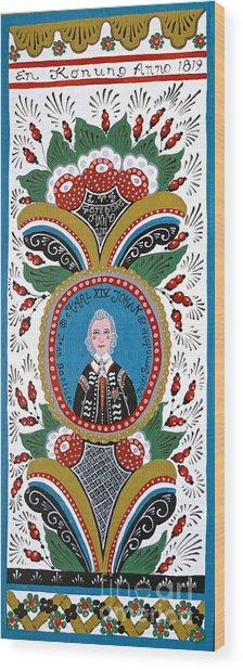 King Karl Johan Of Sweden Wood Print by Leif Sodergren