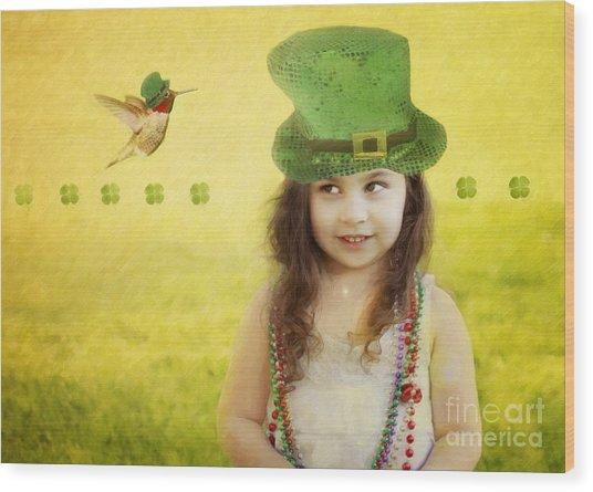 Kiss Me I Am Not Irish Wood Print