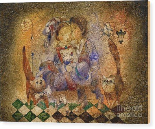Kiss Wood Print by Svetlana and Sabir Gadghievs