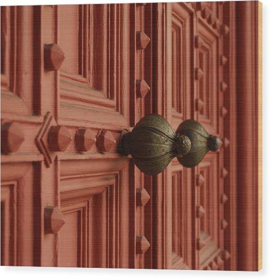 Knobs Wood Print by David Mcchesney