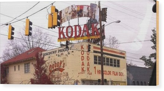 Kodak Building In Atlanta Wood Print by Courtney Gainey
