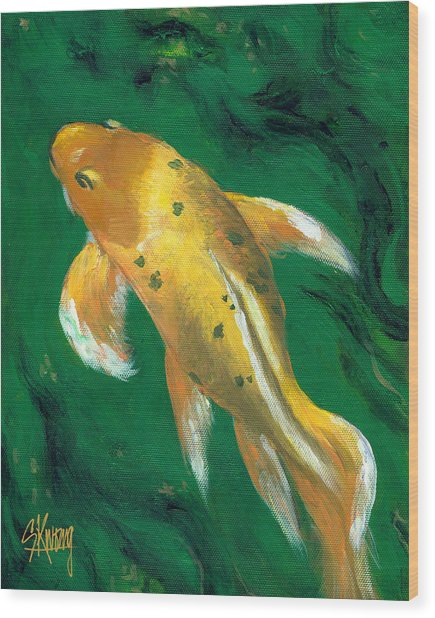 Koi At Muttart Wood Print