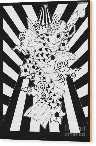 Koi Fish 3 Wood Print by Enrique Simmons
