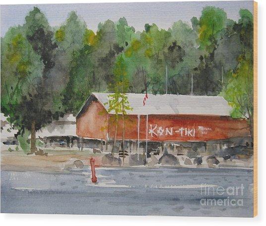 Kon Tiki Marina Lake Simcoe Wood Print