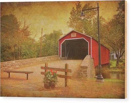 Kreidersville Bridge 2 Wood Print