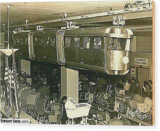 Kresge S Toy Dept Monorail In Newark N J 1949 Painting By