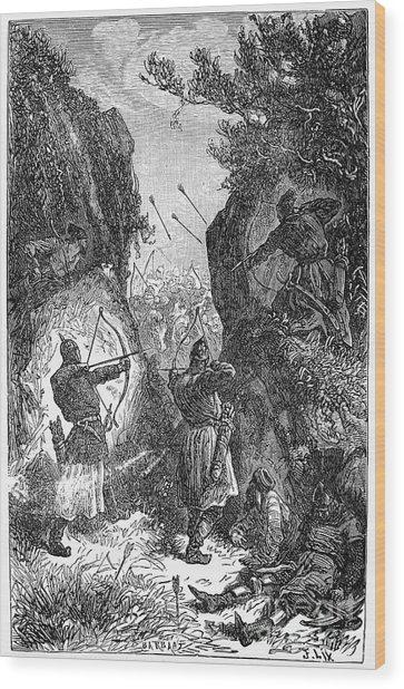 Kublai Khans Army, 1281 Wood Print