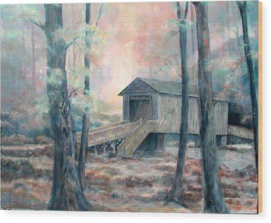 Kymulga Covered Bridge Wood Print