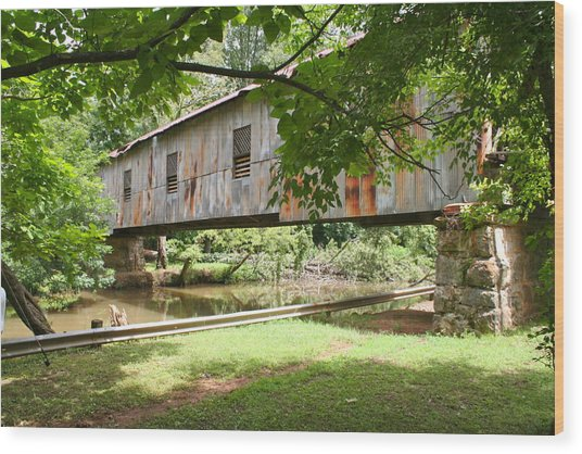 Kymulga Covered Bridge Wood Print