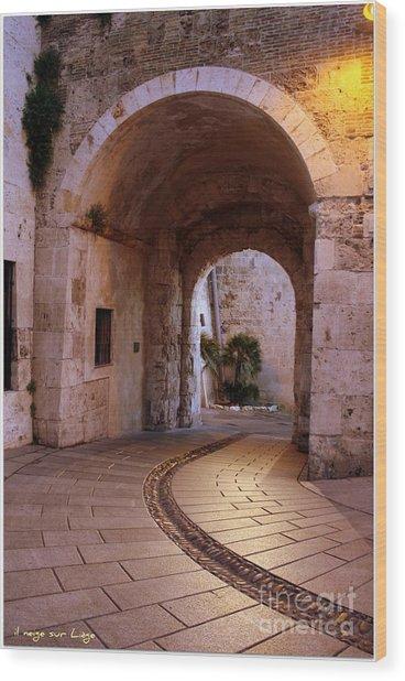 La Porta Dei Leoni Cagliari Wood Print