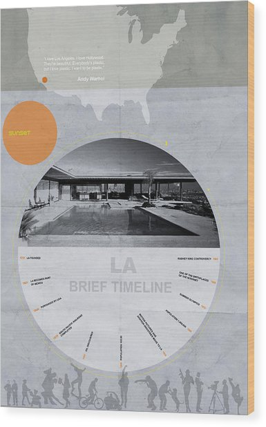 La Poster Wood Print