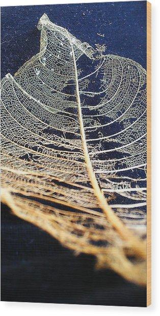 Lace Leaf 4 Wood Print