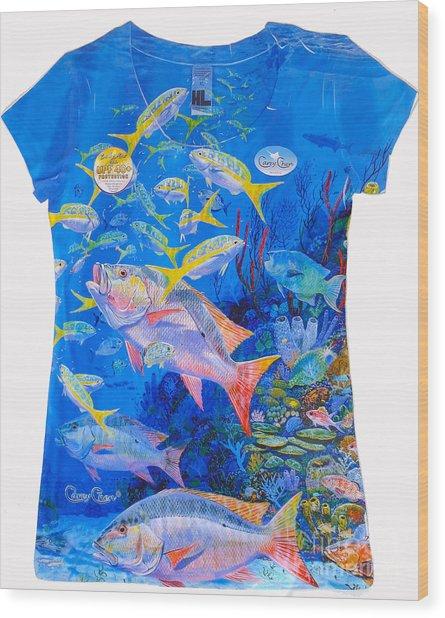 Ladies Mutton Snapper Shirt Wood Print
