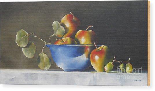 Lady Alice Apples Wood Print by Daniele Lemieux