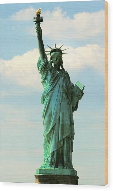 Lady Liberty Wood Print by Artistic Photos