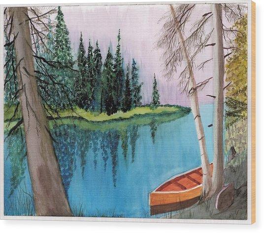 Lagoon 1 Wood Print