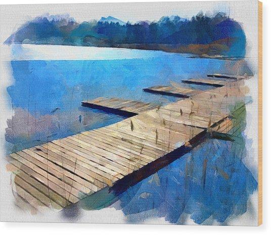 Lake 3 Wood Print by Yury Malkov
