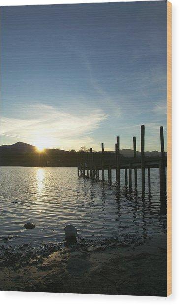 Lake District Sunset Wood Print