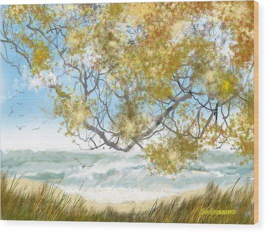 Lake Erie Anger Wood Print by Jim Hubbard
