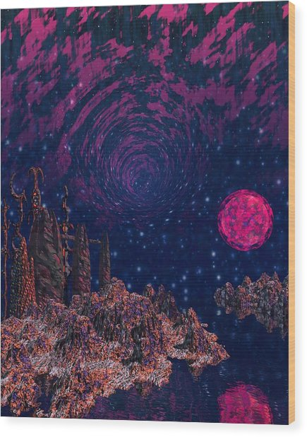 Lake Hali Wood Print by Diana Morningstar