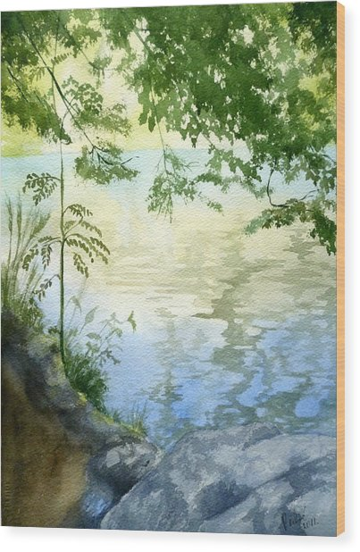 Lake Impression 2 Wood Print