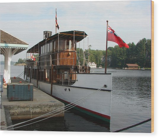 Lake Muskoka Steamer Wood Print