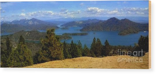 Lake Shasta Wood Print