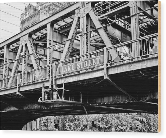 Lake Street Bridge Wood Print