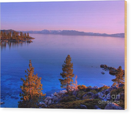 Lake Tahoe Serenity Wood Print by Scott McGuire