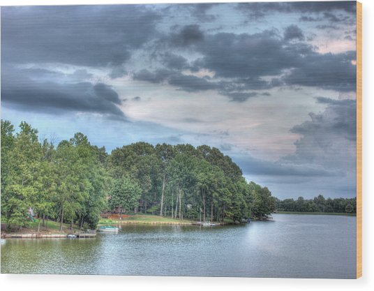 Lakeside 2 Wood Print by Barry Jones
