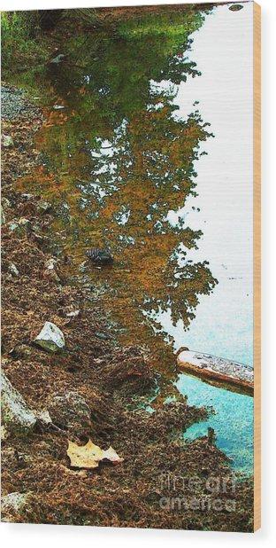 Lakeside And Me Wood Print