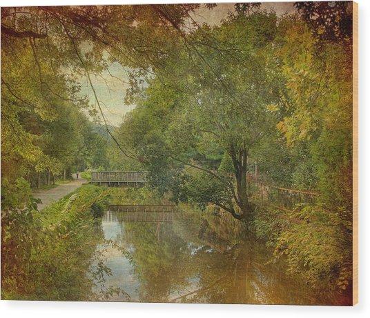 Lambertville Towpath Wood Print