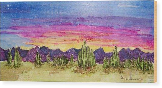 Landscape Wood Print by Regina Ammerman