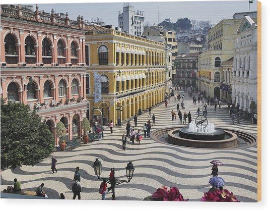 Largo Do Senado (senado Square) Wood Print by Manfred Gottschalk