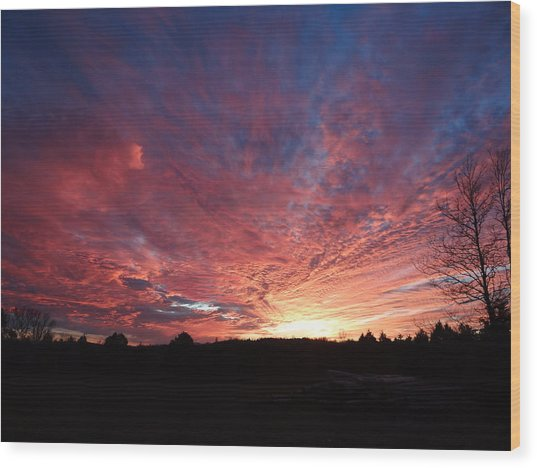 Lascassas Sunset Two Wood Print