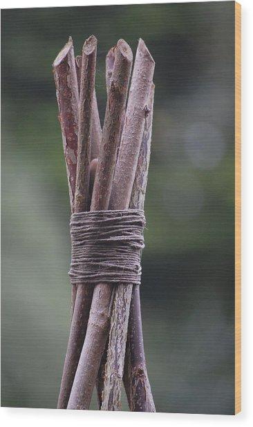 Lashing Wood Print by Dickon Thompson
