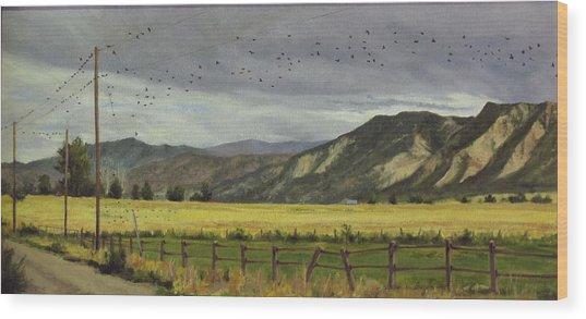 Last Harvest Wood Print by Victoria  Broyles