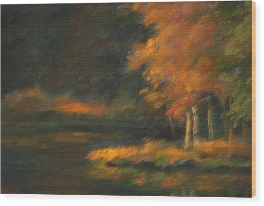 Last Light Wood Print