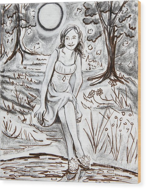 Lauren At Theater Class Wood Print