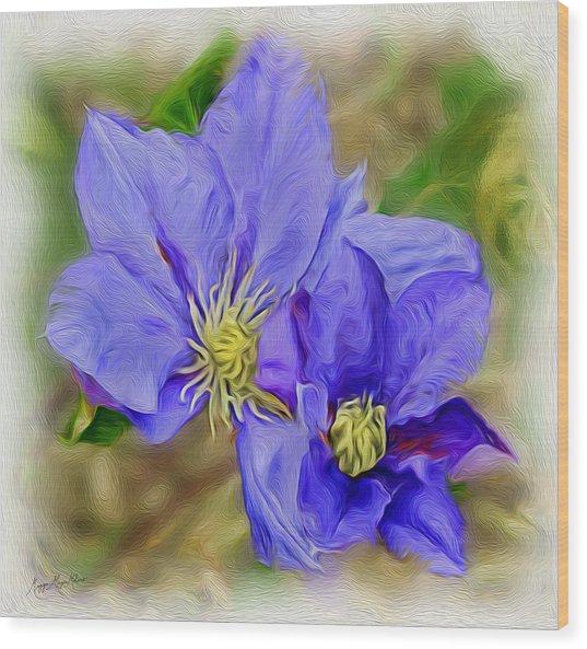 Lavendar Blue Wood Print