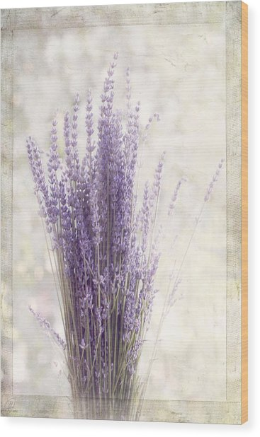 Lavender Bunch Wood Print
