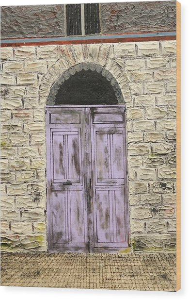 Lavender Door-france Wood Print