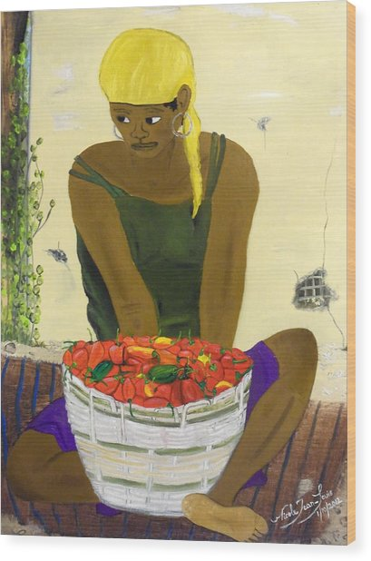 Le Piment Rouge D' Haiti Wood Print