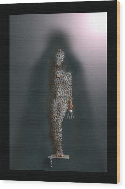 Lead Into Temptation Wood Print by LeAnne Hosmer