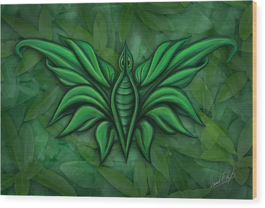 Leafy Bug Wood Print by David Kyte