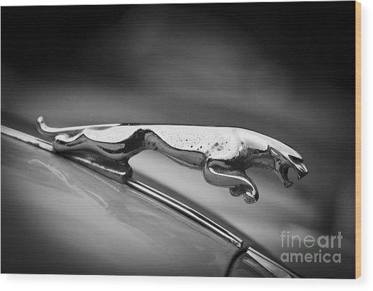 Leaping Jaguar Wood Print
