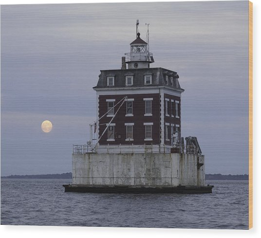 Ledge Light Wood Print