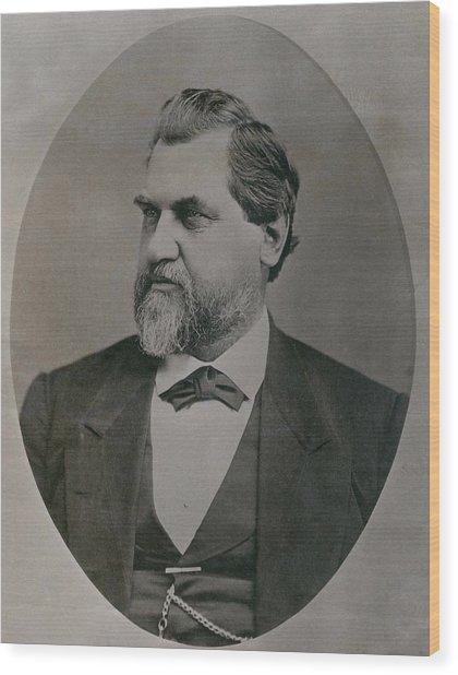 Leland Stanford 1824-1893 Was Drawn Wood Print by Everett