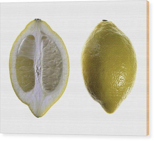 Lemon Wood Print by Nathaniel Kolby