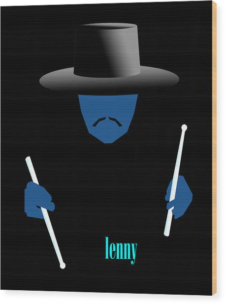 Lenny Blue Wood Print by Victor Bailey